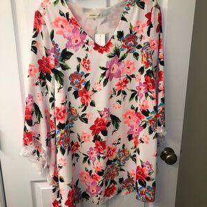 Sugar+lips floral bell sleeves dress